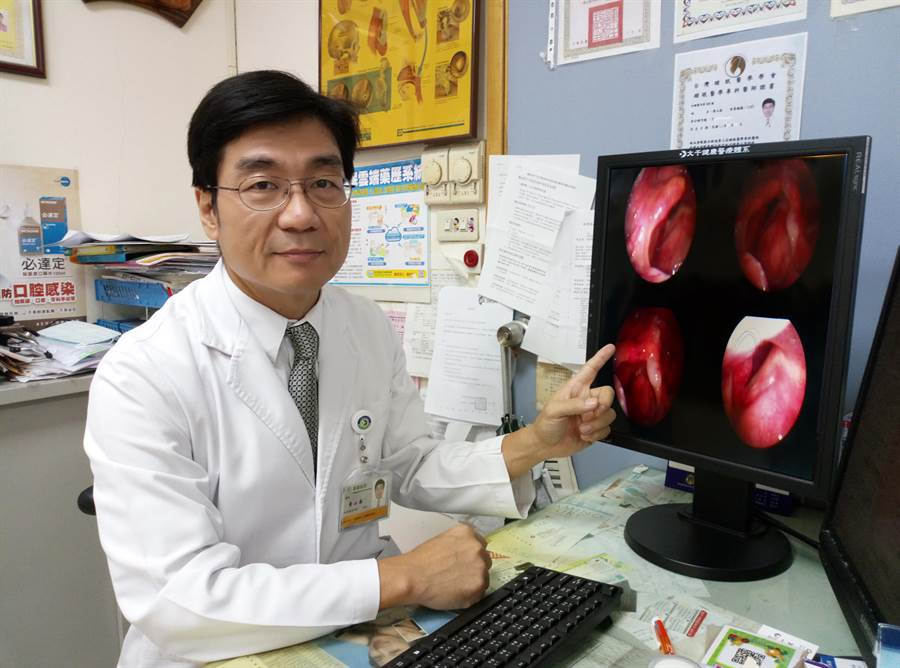 耳鼻喉科醫師黃山崧提醒,長期抽菸、喝酒的50歲以上男性,若聲音沙啞超過2周,一定要盡快就醫。(巫靜婷翻攝)