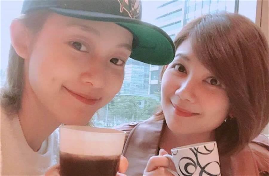 梁靜茹與范范是演藝圈好閨蜜。(取自梁靜茹微博)
