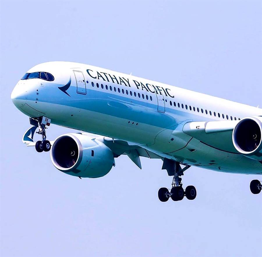香港國泰航空2高層辭職。圖為國泰航空A350客機。(圖片摘自國泰航空IG)