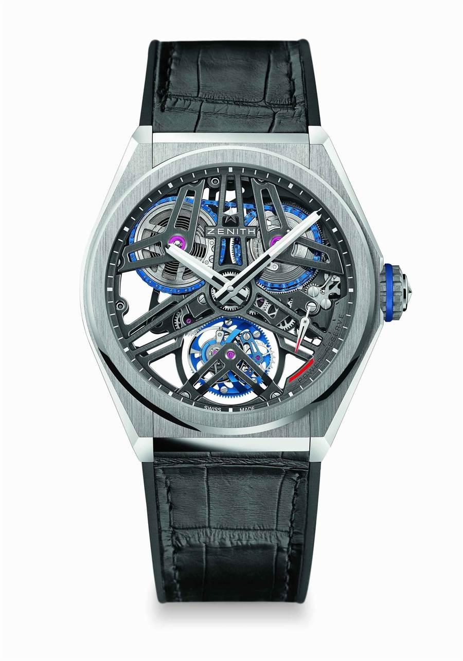 香港反送中抗爭效應,讓珍稀腕表紛紛轉來台灣,真力時ZENITH DEFY EL Primero 芝麻鍊陀飛輪腕表,354萬5000元,已在台賣出兩只。(ZENITH提供)