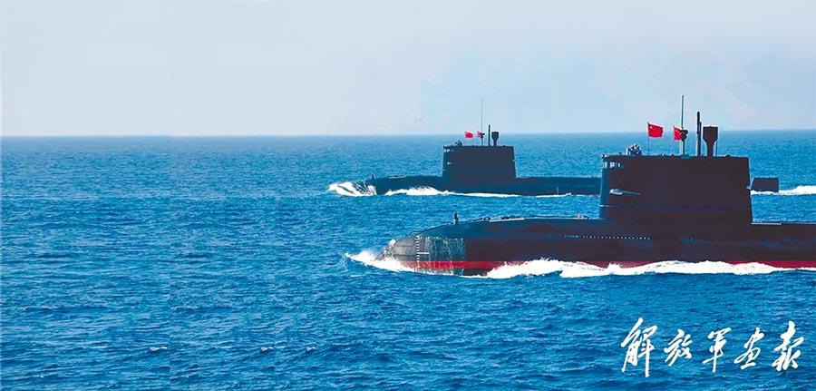 大陸海軍潛艇。(取自《解放軍畫報》)