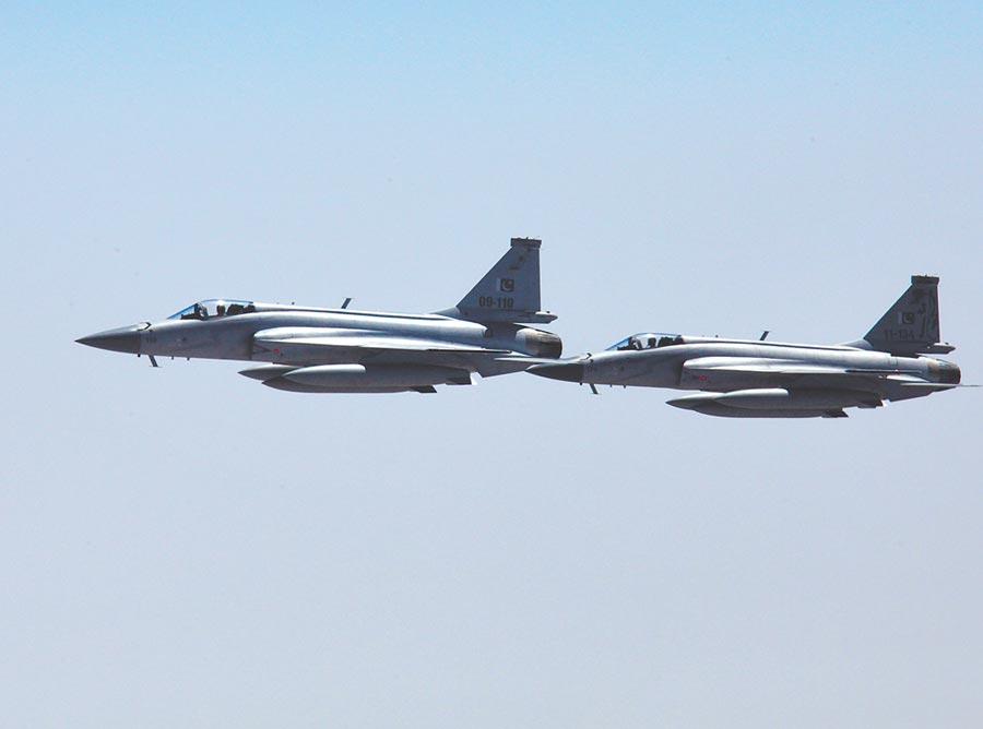 巴基斯坦空軍梟龍戰機。(中新社資料照片)
