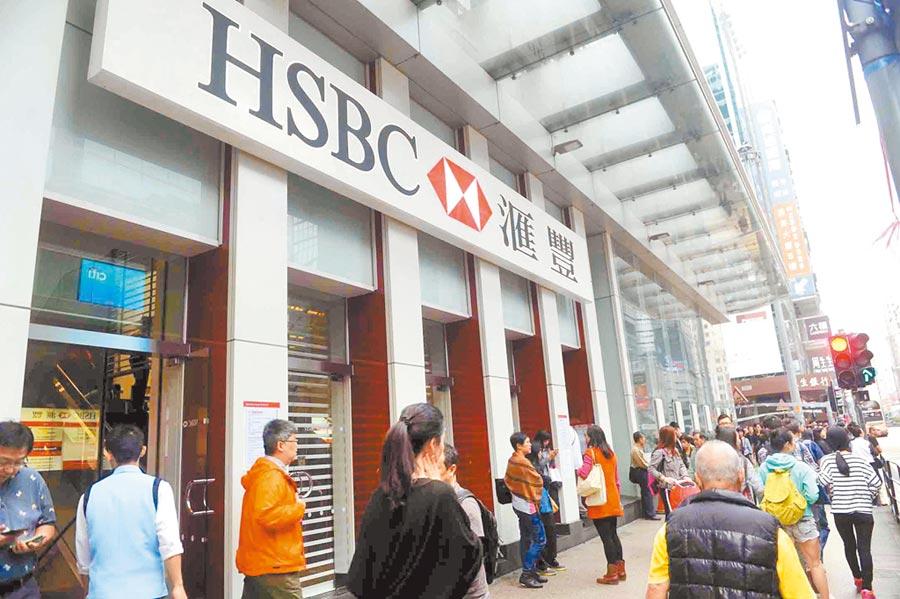 香港匯豐銀行旺角分行。(中新社資料照片)