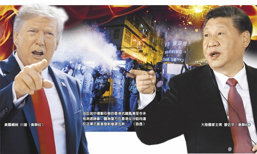 由反送中運動引發的香港抗議風潮至今未有消退跡象。圖為警方在香港尖沙咀向違反法律示威者發射催淚瓦斯。(路透)
