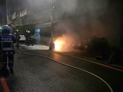 中市暗夜火警2機車遭燒毀