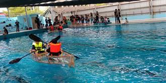 鹿上行舟! 鹿港少年體驗DIY自力造舟、行舟