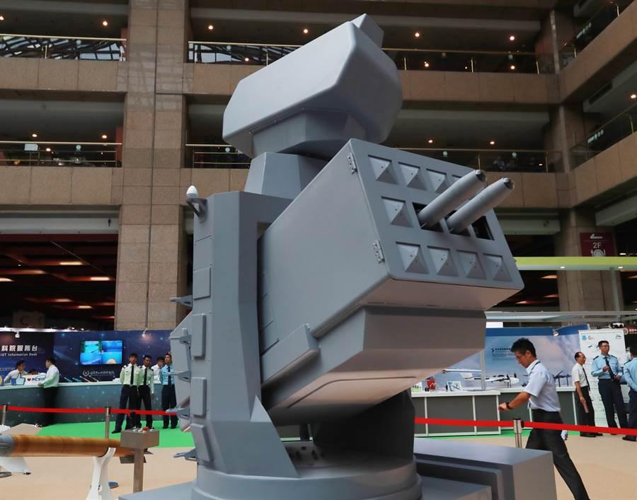 2019台北國際航太暨國防工業展上的海劍羚系統模型。(圖/陳怡誠攝)