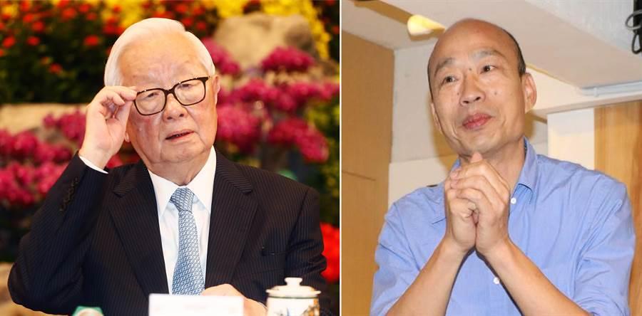 台積電創辦人張忠謀(見圖左)、國民黨2020總統候選人韓國瑜(右)。(圖/合成圖,本報資料照)。