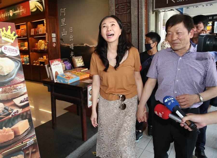 高雄市長韓國瑜的夫人李佳芬。(姚志平攝)
