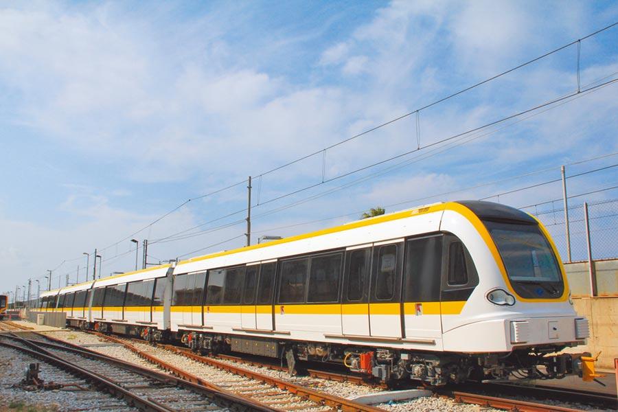 捷運環狀線第一階段即將在年底通車,近期車輛測試。(新北市政府提供)