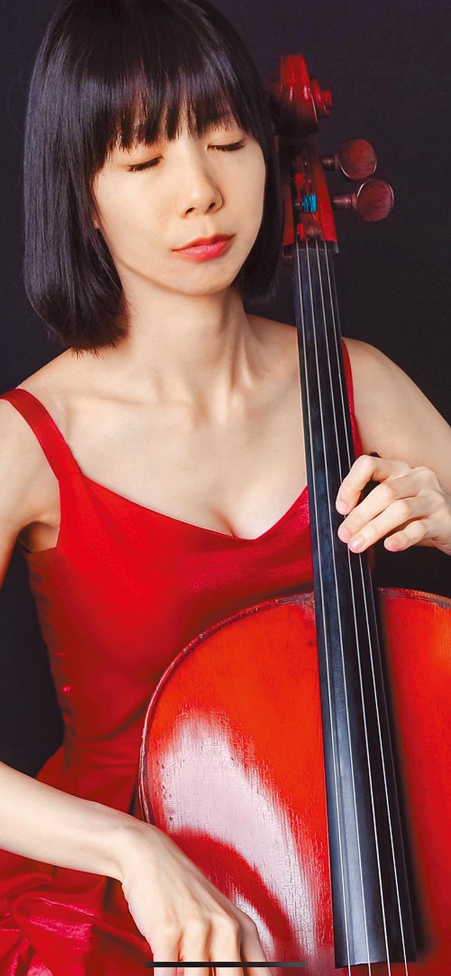 台灣大提琴家林楚芸。(Alex Su攝,林楚芸提供)
