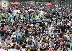 人潮眾多!民陣維園集會 示威者已坐滿3個足球場