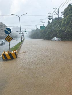 台8線德基段坍方 大肚沙田路淹水