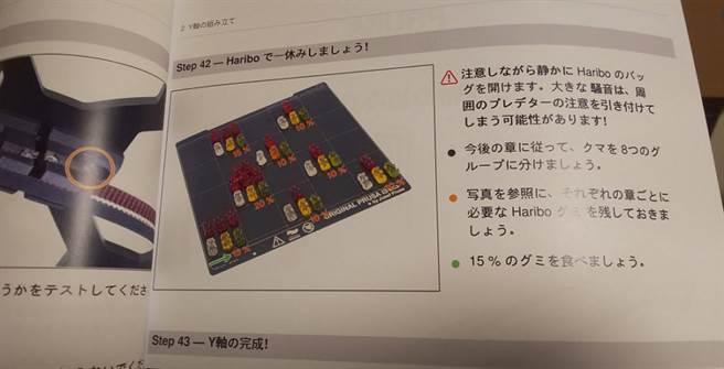 原PO翻閱說明書後,才知道小熊軟糖真的有它的作用。(圖/ 翻攝自推特@kenbishi_P)
