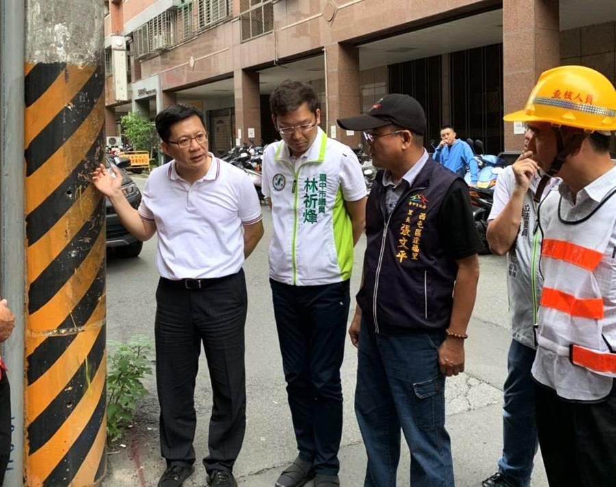 面對下屆立委選戰,台中市第四選區立委張廖萬堅勤走基層,上緊發條。(盧金足攝)