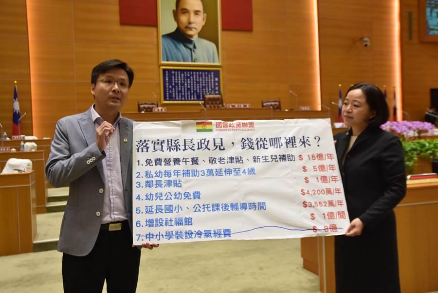 國會政黨聯盟籍的新竹縣議員吳旭智(左),外傳要挑戰第一選區立委席次。(資料照)