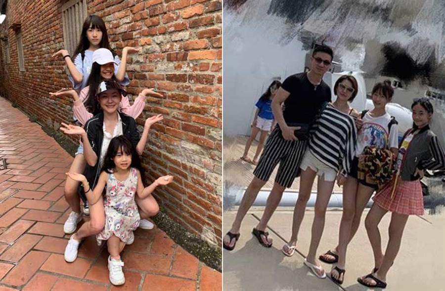 許俏妞分享一家出遊照,赫見全家都有大長腿,根本神基因。(取材自小S臉書、許俏妞IG)