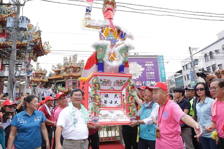 大士爺文化祭千人創意踩街今下午登場。(呂妍庭翻攝)
