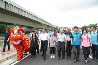 高鐵新竹站橋下聯絡道路工程2期完工通車
