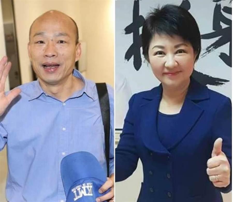 圖為準高雄市長韓國瑜(左)、準台中市長盧秀燕(右)。(中時資料照,合成圖)