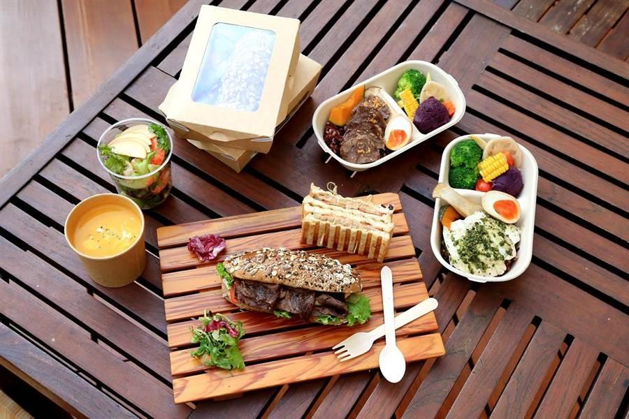 裕元花園酒店推出「健康飲食餐盒」,分成含多穀飯的輕餐盒、不含飯的田園食蔬、補充能量的穀麥帕里尼及健康脆餅等。(馮惠宜翻攝)