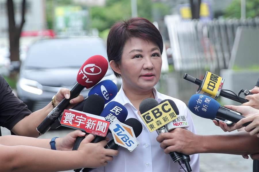 台中市長盧秀燕表示,關於韓市長要選總統一事,站在黨內同志立場,她一定會幫忙;但是否要掛職務、或是要掛什麼樣的職務?這些還要再討論與考慮。(陳世宗翻攝)