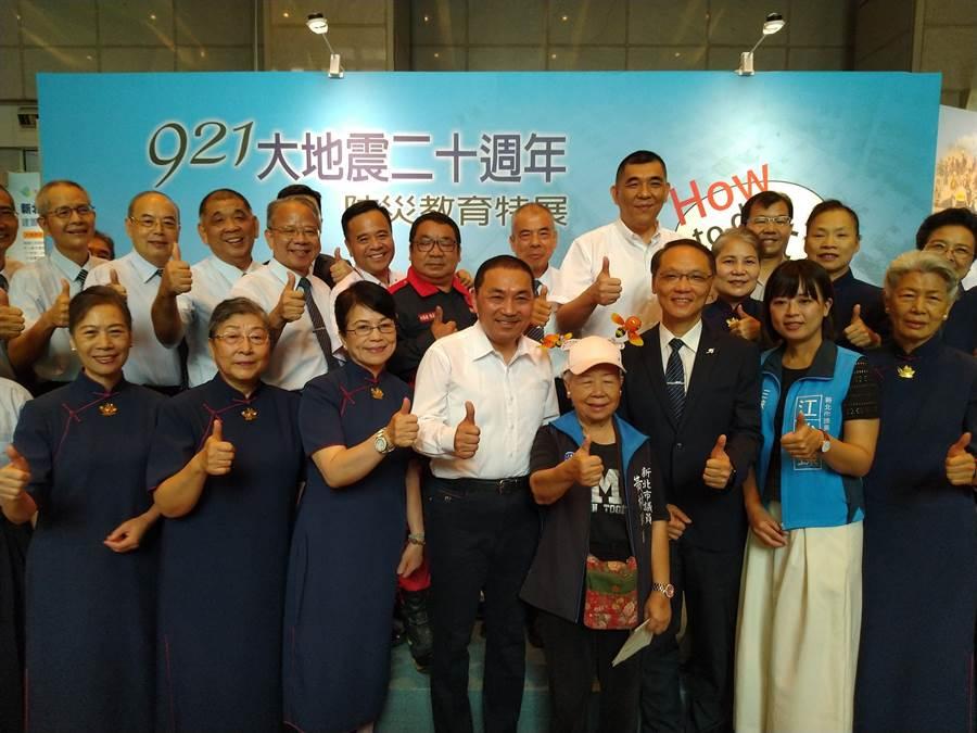 新北市府與慈濟慈善事業基金會合作舉辦「921大地震20週年防災教育特展」。(王揚傑翻攝)