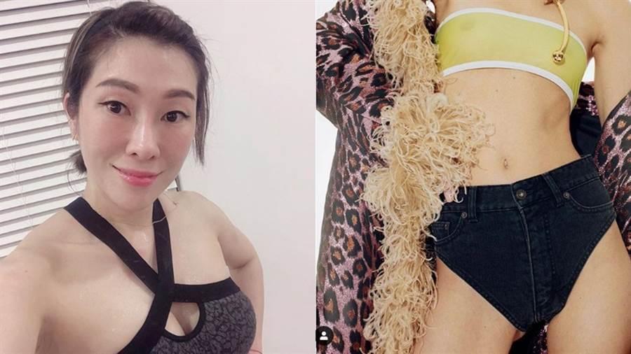 Kimiko私藏牛仔裤高衩 轻松穿出纤细美腿的视觉效果