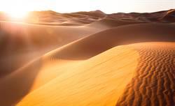 沙漠驚現超綠池塘 正妹一下水驚呆