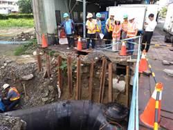 台中施工停水  台水公司董事長視察:盡全力提早復水