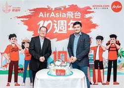 AirAsia慶飛航台北10週年 祭優惠單程未稅1,088元起