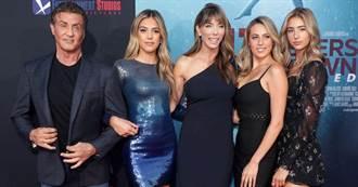 席維斯史特龍3女兒超正 首映會一字排開鎂光燈閃爆