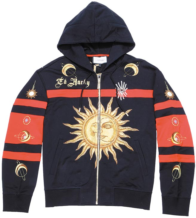 微風信義「王者潮流之夜」ED Hardy太陽豹連帽外套,1萬3180元。(微風提供)