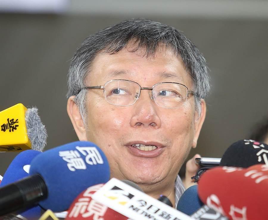 台灣民眾黨黨主席、台北市長柯文哲。(圖/本報資料照)