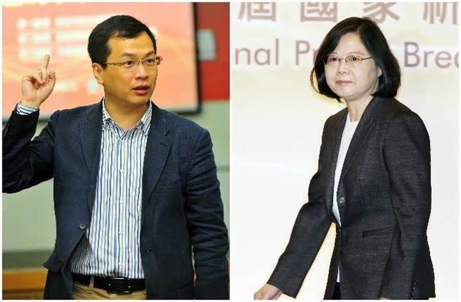 前總統府副秘書長、台北市議員 羅智強(左)、總統蔡英文。(圖/本報資料照、合成照/劉宗龍、姚志平攝)