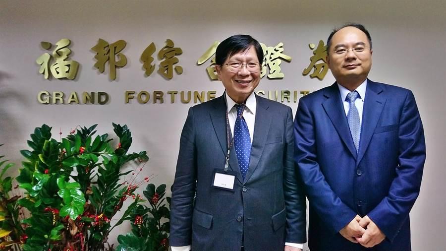 福邦證董事長林火燈(左)、總經理林瑛明(右)。(林資傑攝)