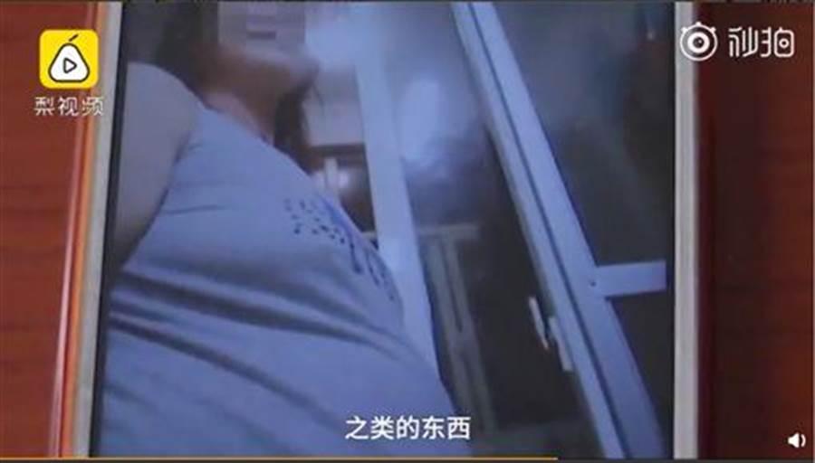 曾女會拍假懷孕照傳給小王看。(圖/翻攝自梨視頻)