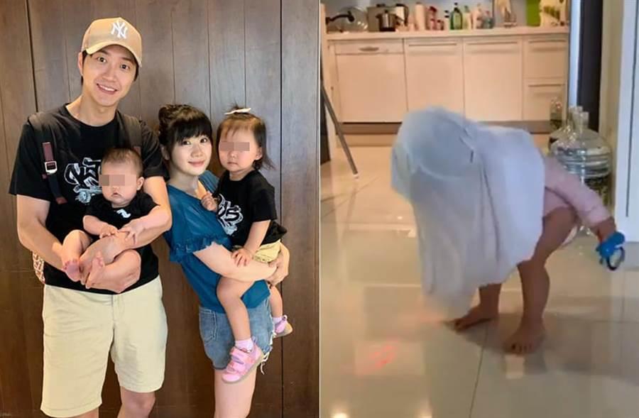 江宏傑曝光女兒小小愛的私下小動作,瘋喊不可以學媽媽。(取材自江宏傑臉書)