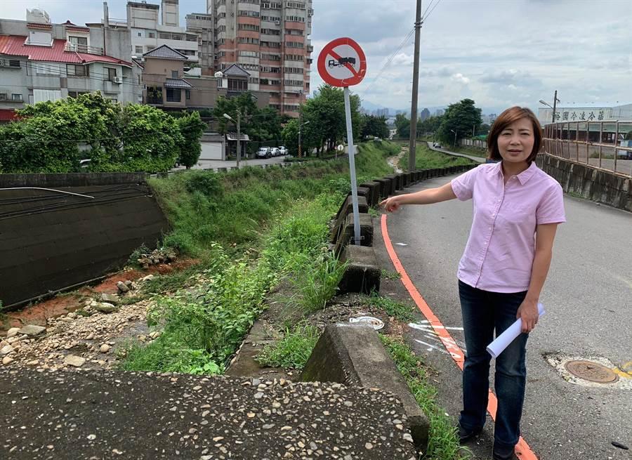市議員陳淑華指出,市政路延伸第一階段,將從台中工業一路沿東大坑溪到安和路。(陳世宗翻攝)