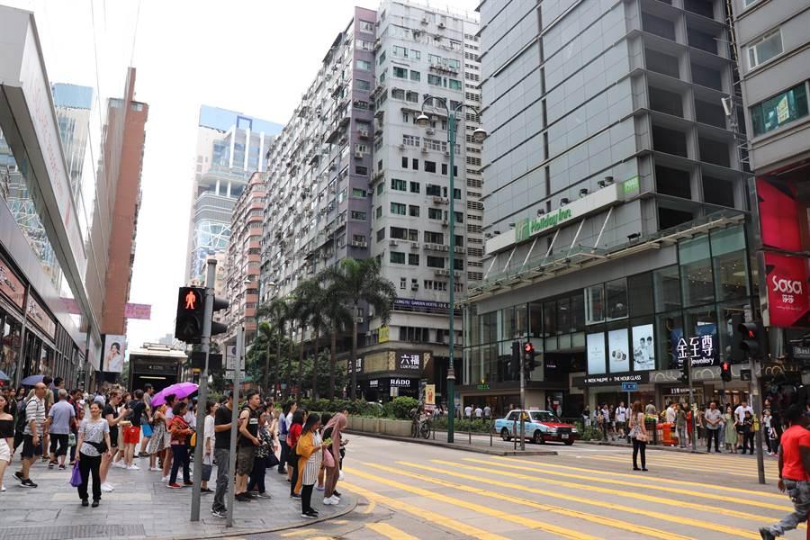 香港街景一隅。(記者呂佳蓉/攝)