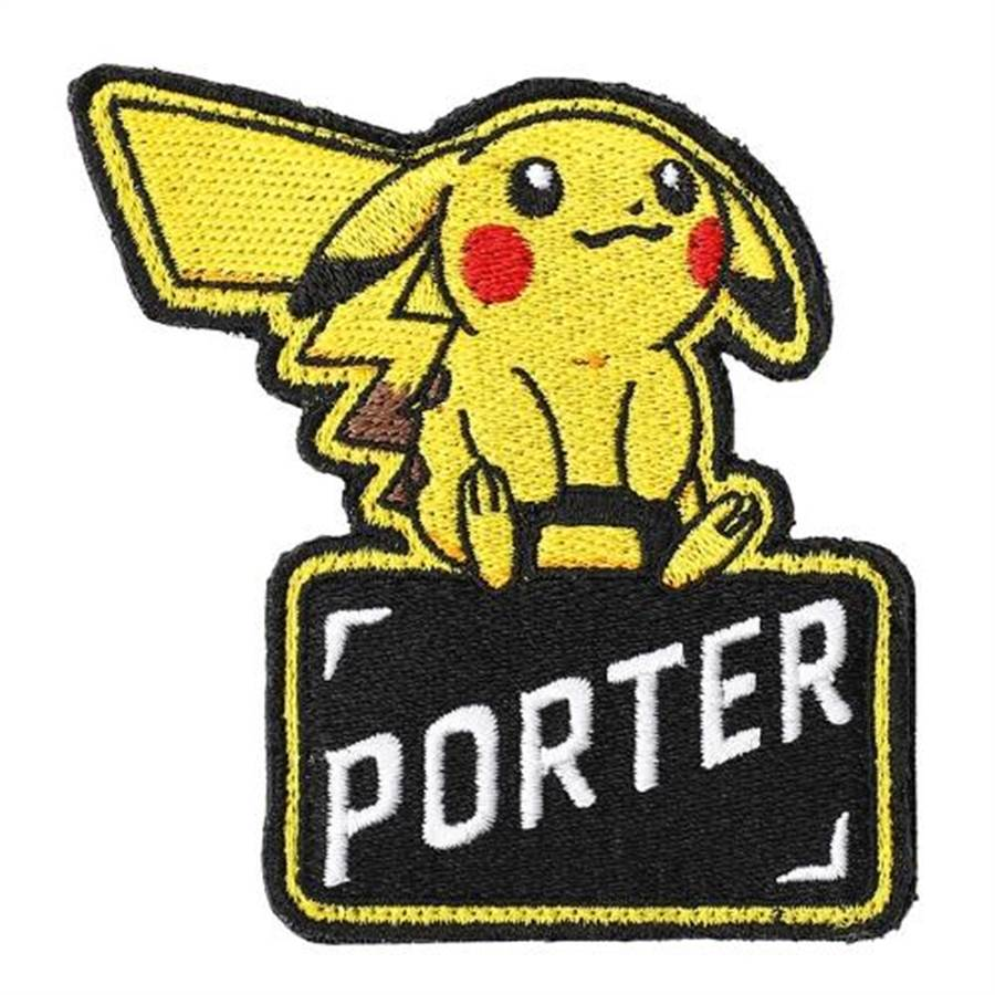 Pokemon&PORTER系列包款上的特色logo。(取自官網)