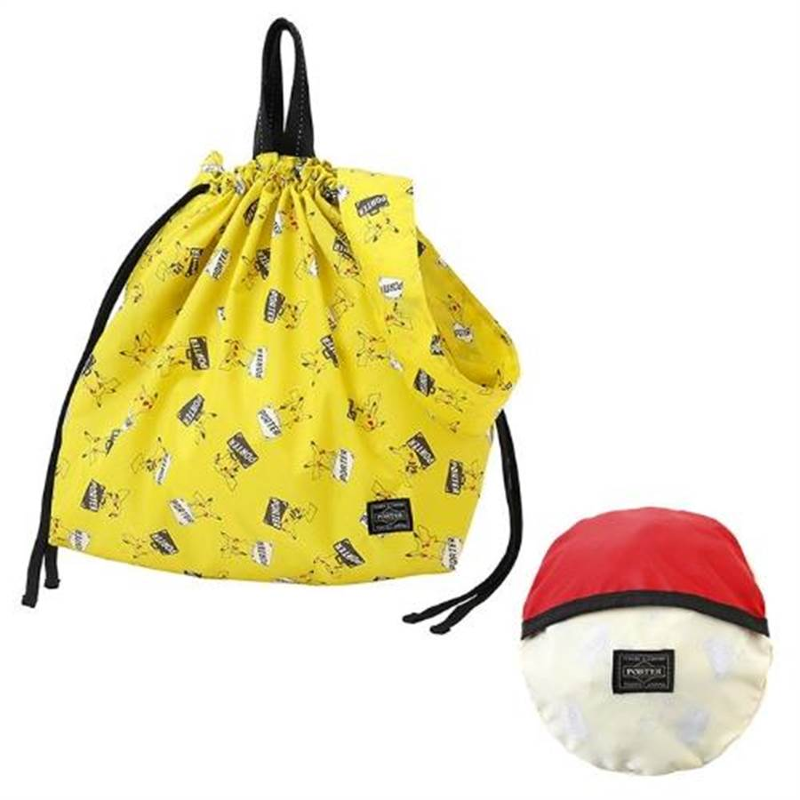 .Pokemon&PORTER可收納式束口包,含稅售價1萬4800日幣。(取自官網)