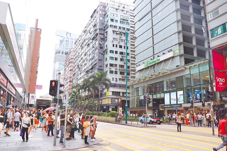 香港體制的靈活性,是大陸體外的重要渠道。圖為香港街景。(記者呂佳蓉攝)