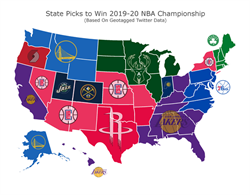 NBA》美国各州预测冠军 湖人获11州支持