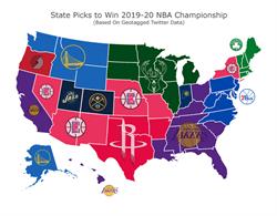 NBA》美國各州預測冠軍 湖人獲11州支持