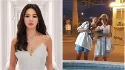 網友海外捕捉「野生宋慧喬」素顏、低胸洋裝網暴動