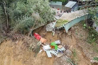 狗掉山溝還斷糧 大坑土石流重創莊媽媽狗園