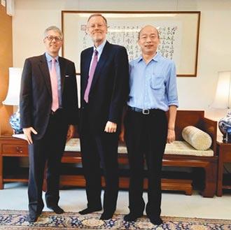 台灣政情台美安全合作-AIT處長酈英傑與韓會面合照