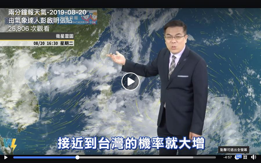 「太平洋高壓強弱」是影響颱風形成過程中的影響路徑的關鍵,會造成兩套劇本。(圖/翻攝自氣象達人彭啟明  FB)