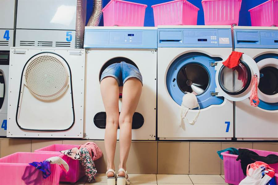 自助洗衣店示意圖。(圖/達志影像)